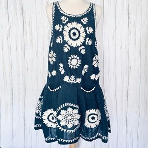 FREE PEOPLE All-Over Embroidered Tank Dress